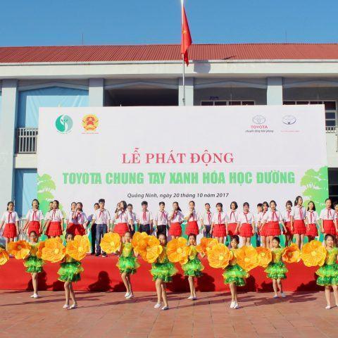 """Quảng Ninh: Phát động chương trình """"Toyota chung tay xanh hoá học đường"""