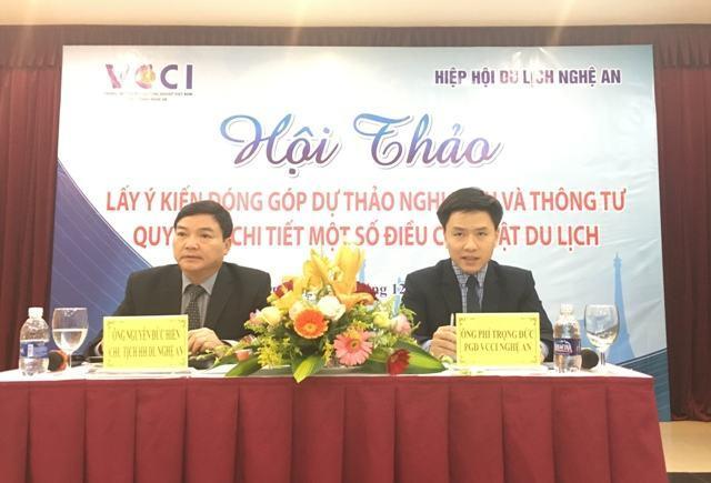 CN VCCI Nghệ An: Lấy ý kiến đóng góp Dự thảo Nghị định và Thông tư quy định một số điều chi tiết của Luật Du lịch