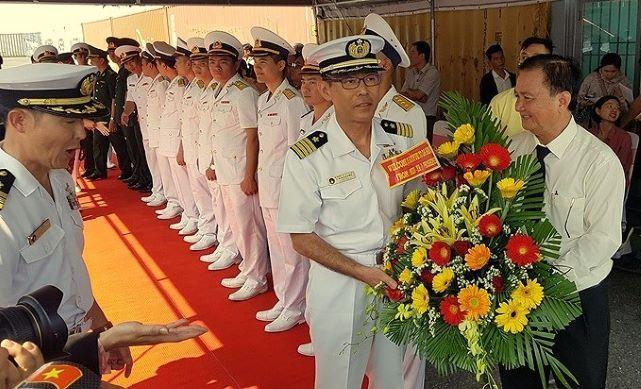 Tàu hải quân Nhật Bản cập cảng Đà Nẵng