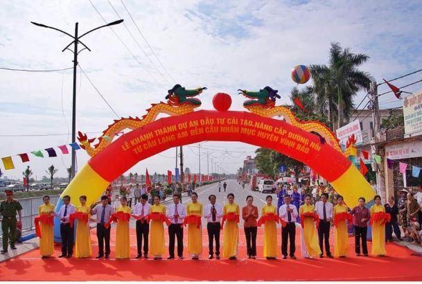 Hải Phòng: Khánh thành tuyến đường đôi gần 1.300 tỷ đồng đẹp nhất huyện Vĩnh Bảo