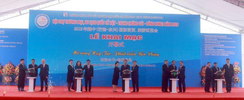 Khai mạc Hội chợ Thương mại, Du lịch quốc tế Việt – Trung (Móng Cái– Đông Hưng) năm 2019
