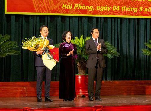Đồng chí Trần Lưu Quang giữ chức Bí thư Thành ủy thành phố Hải Phòng